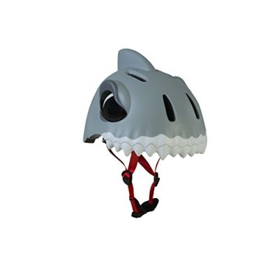 Crazy Safety the Savage Shark, Casco Unisex Bambini, Bianco, 49-55 cm