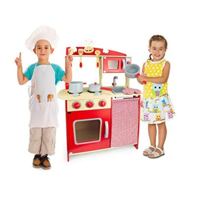 Cucina Rosa In Legno Giocattolo Per Bamibni Gioco G'imitiazione Educazione Tavola Divertimento Accessori Da Cucina Microonda