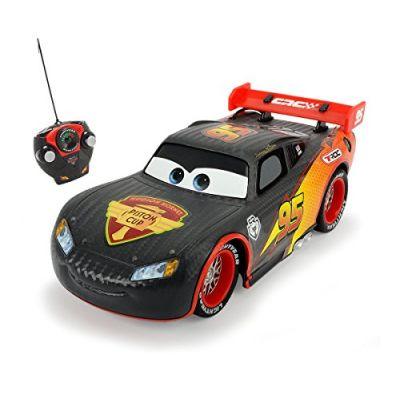 Dickie Toys 203084000 - Disney Cars Carbonio, Rc Turbo Racer Saetta McQueen 1:24, Grigio