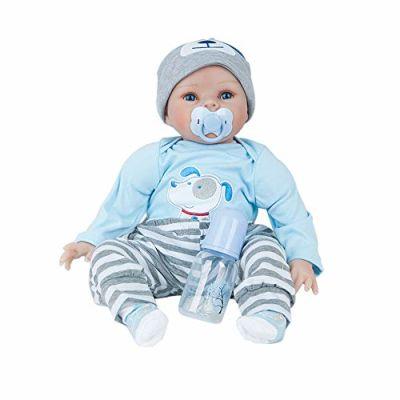 Honestyi Bambole Bambina Ragazza Bambola Reborn Femmina Bambolotto Neonato Bambolotti Realistici Bambolotti Morbido Silicone Vinile Reborn Baby Doll Simulazione Bambini 55 cm