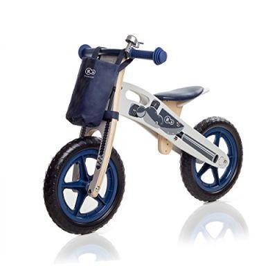 Kinderkraft Runner Motors Biciclette Velocipede for bambini Bici Senza Pedali In Legno Con Borsa E Campanello In 2 Colori
