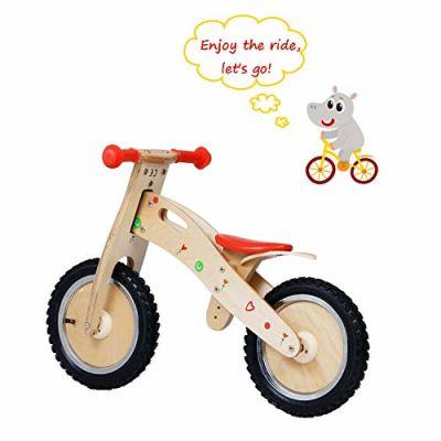 Labebe Bici Pedali Bimbo con Sedile Regolabile, per Bambini di Età Compresa tra 18 Mesi e 3 Anni, Bicicletta Pedali Legno/Bicicletta Pedali 2 Anni/Bici Pedali 2 Anni/Bici Pedali Legno Indiana