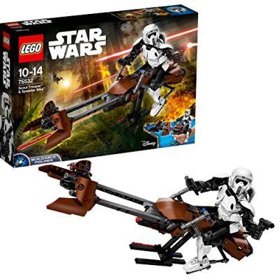 LEGO 75532 - Constraction Star Wars, Scout Trooper e Speeder Bike