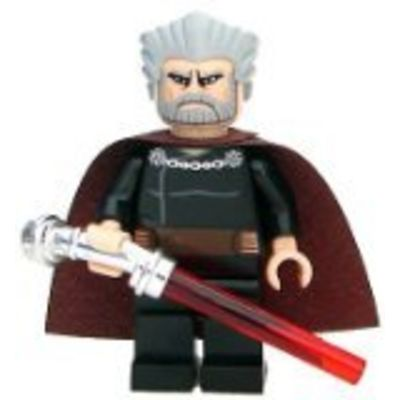 Lego Star Wars Count Dooku Minifigure with Lightsaber by