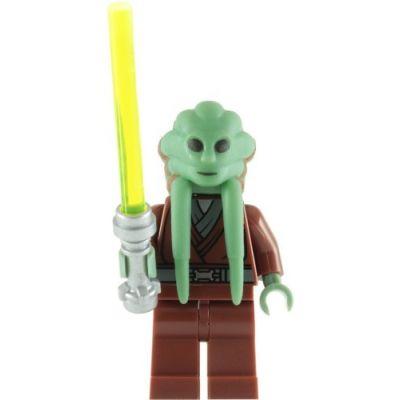 LEGO Star Wars: Kit Fisto Minifigura Con Verde Lightsaber