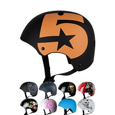 Skullcap® Casco BMX - Casco Skate - Casco Bici, Taglia S (53 – 55 cm) Casco per Bambini, Design: No. 5