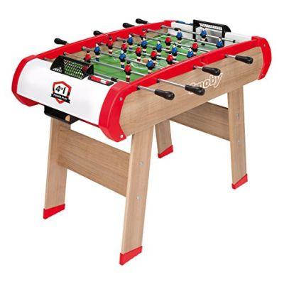 smoby 7600640000 calcetto multigioco 4 in 1 (calcetto, ping pong, hockey e biliardo)