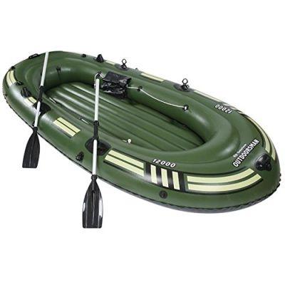 sz5cgjmy Heavy Duty 4persona canotto gonfiabile gommone barca da pesca, peso massimo 300kg verde campeggio sport acquatici barche