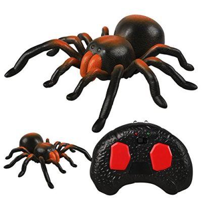 Zantec Giocattolo interattivo telecomandato a forma del ragno di alta simulazione bambini, strumento divertente di scherzo dell'adolescente, regalo per Halloween