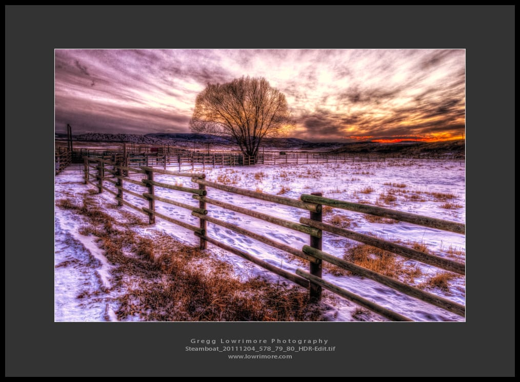 Steamboat Ranch Sunset