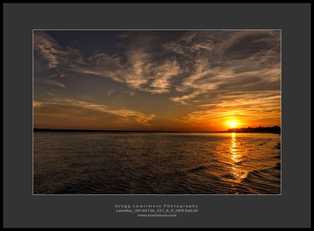 Sunset HDR Lake Maconaughy 20140726 537_8_9