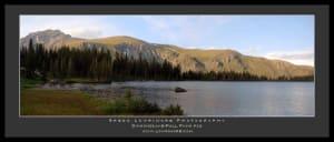 A 4-Image Stitch of Diamond Lake Looking North