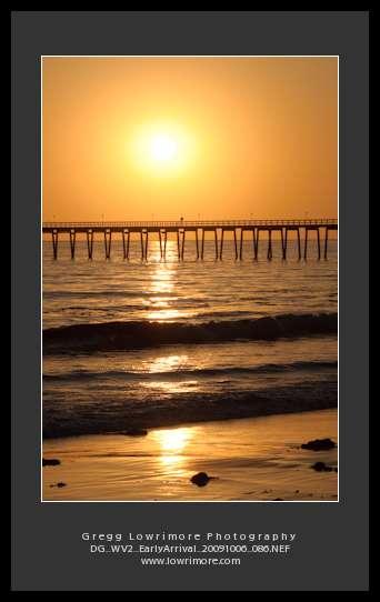 Sunset and Pier, Santa Barbara, California