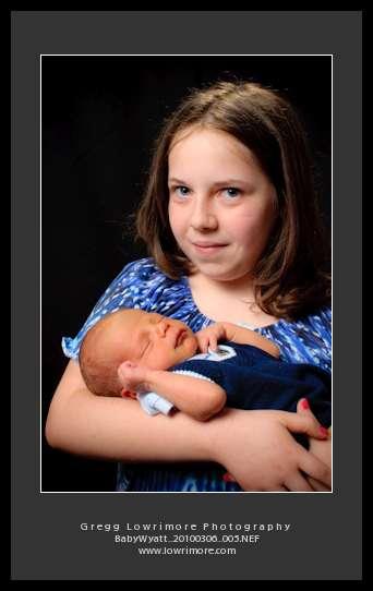 Wyatt James Sullivan with Big Sister Haley