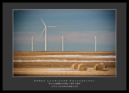 Wind Turbines and Hay Bales
