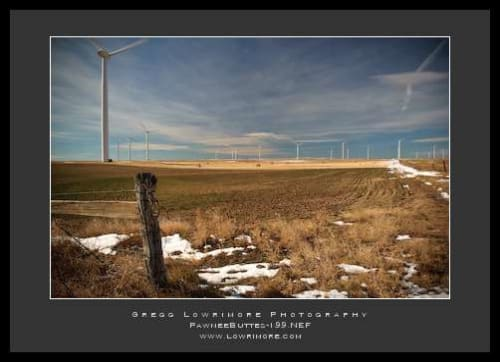 Ranchland and Wind Turbines