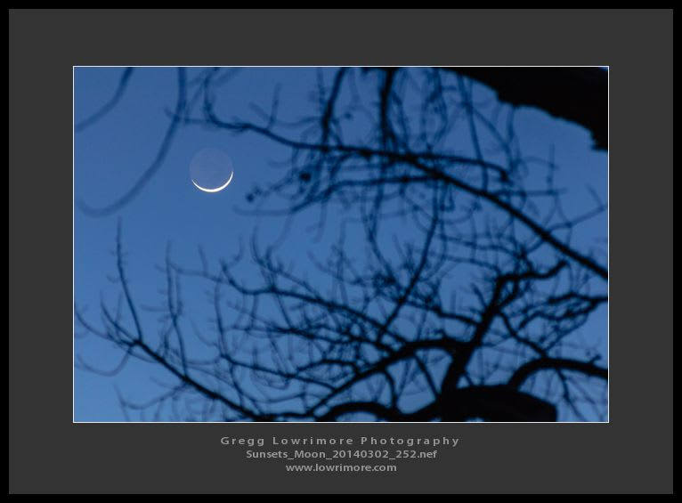 Sunset Waxing Moon 20140302 252