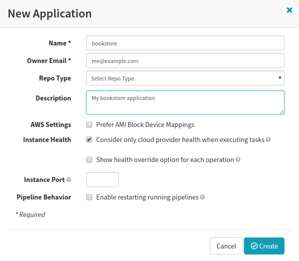 developer-tutorial-add-spinnaker-application