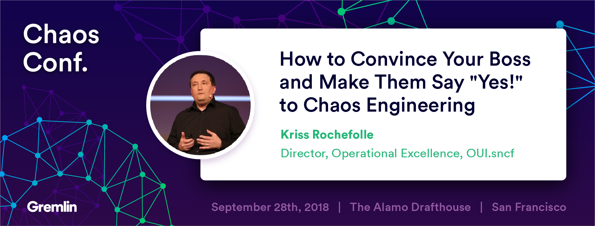 "Kriss Rochefolle: ""How to Convince Your Boss to Say ""Yes!"" to Chaos Engineering"" - Chaos Conf 2018"