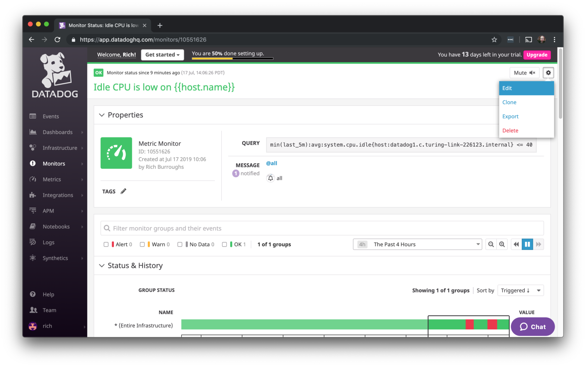 Datadog screenshot
