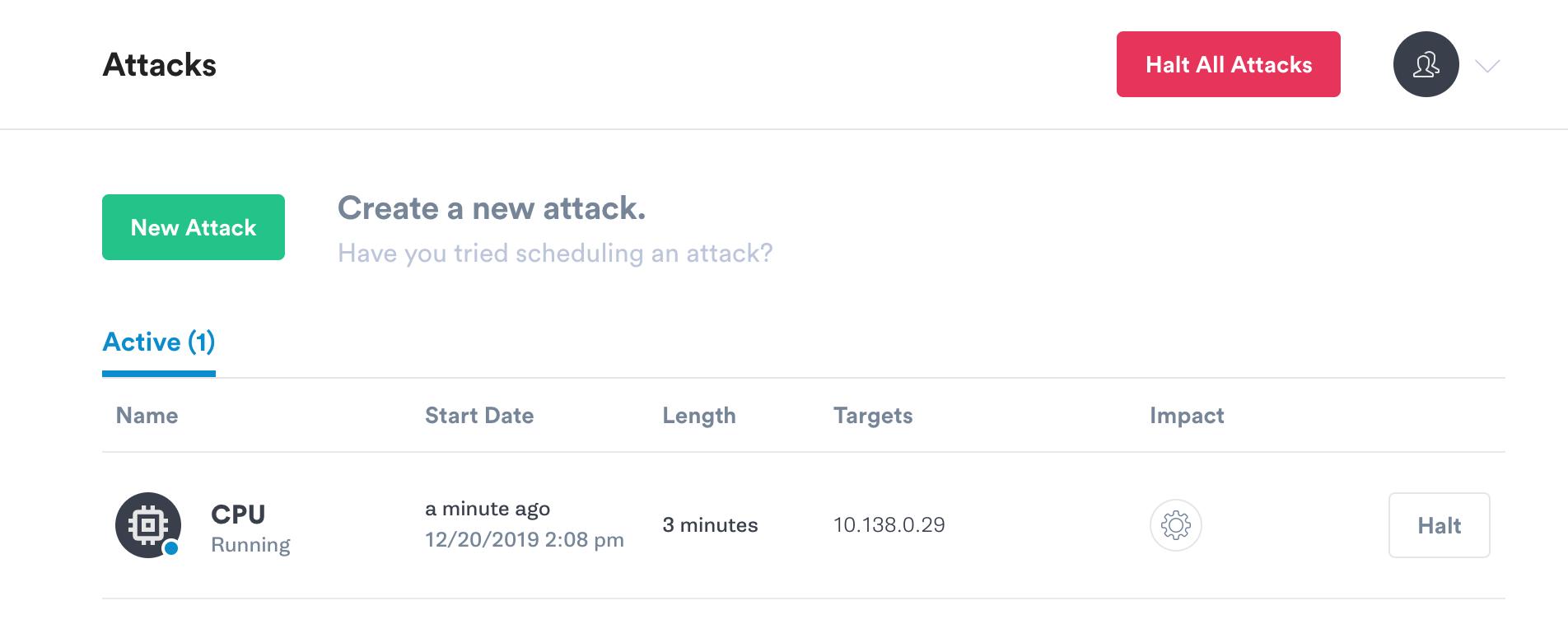 Halt attack buttons