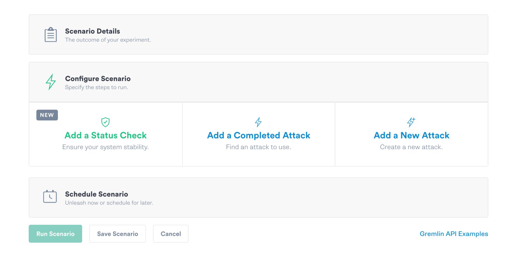 """Add a Status Check to your Scenario using the """"Add a Status Check"""" button"""