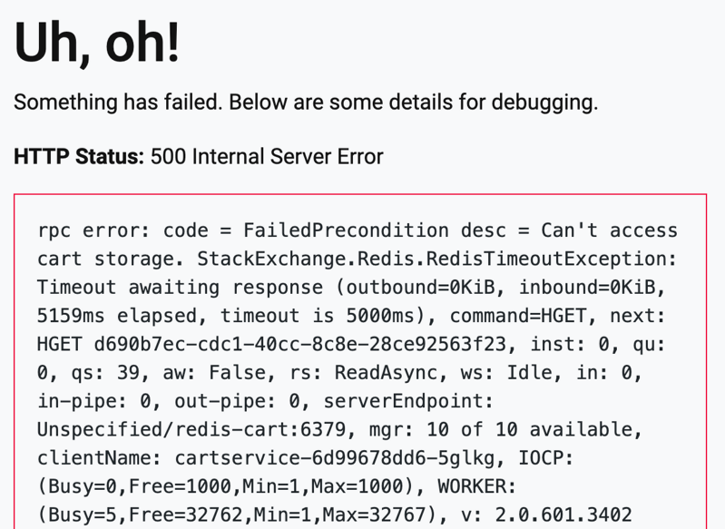 500 error caused by blackhole attack