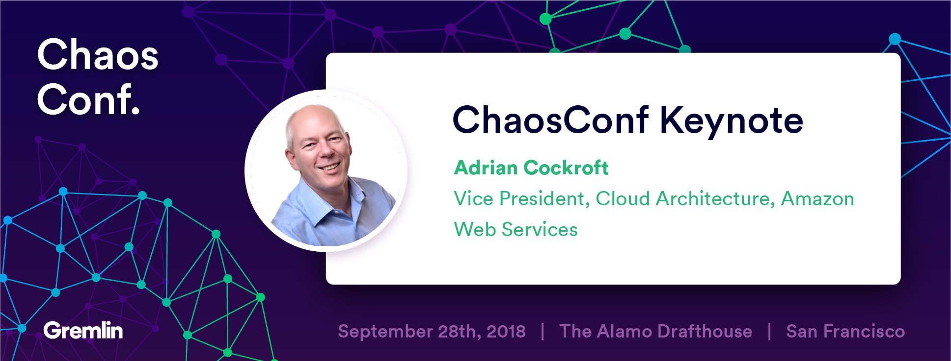 """Adrian Cockroft: """"Chaos Engineering - What it is, and where it's going"""" - Chaos Conf 2018"""