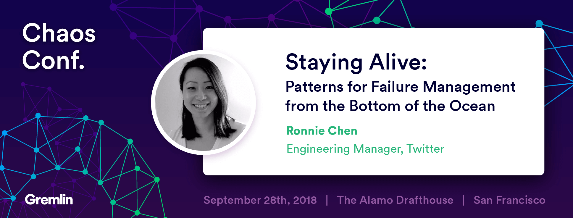 "Ronnie Chen: ""Staying Alive: Patterns for Failure Management from the Depths"" - Chaos Conf 2018"