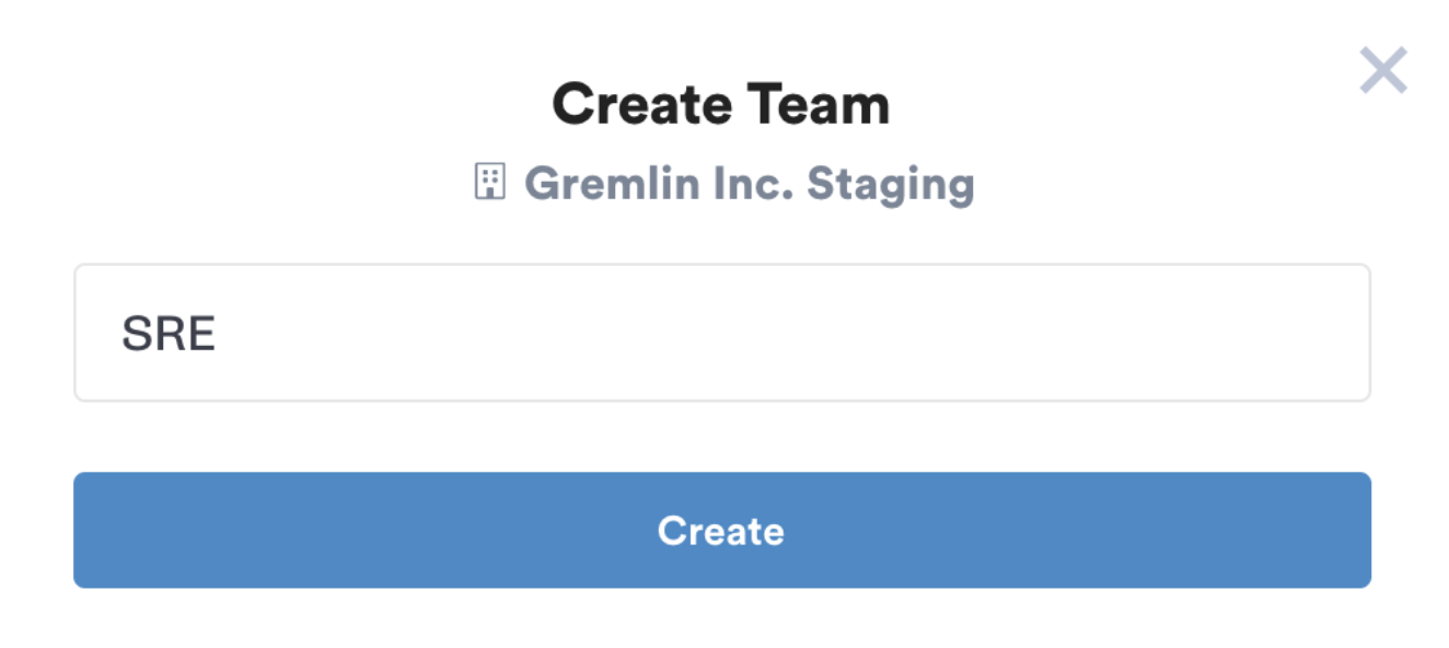 gremlin rbac name team