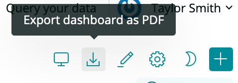 New Relic's export as PDF function