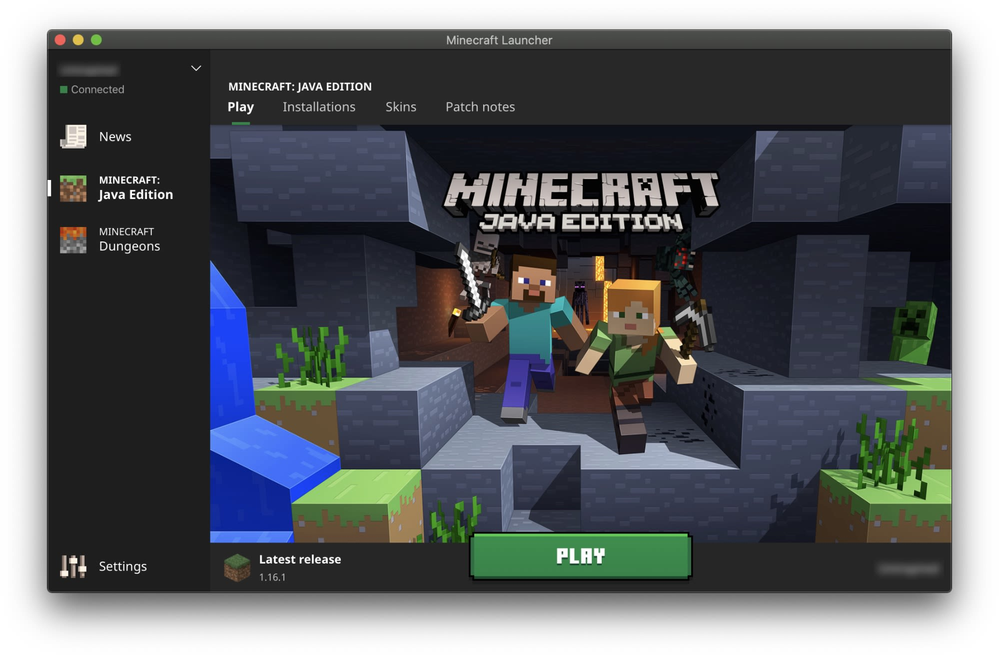 The Minecraft launcher