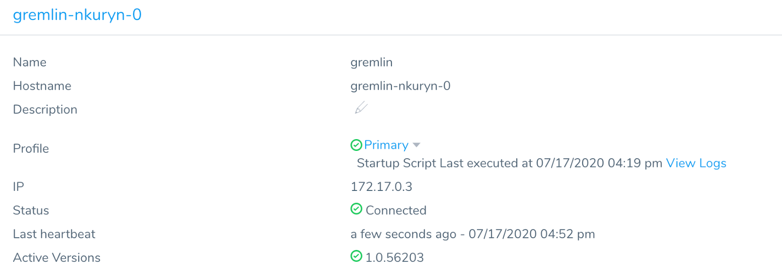 When the installation is complete, the Delegate will be listed in the Harness UI.