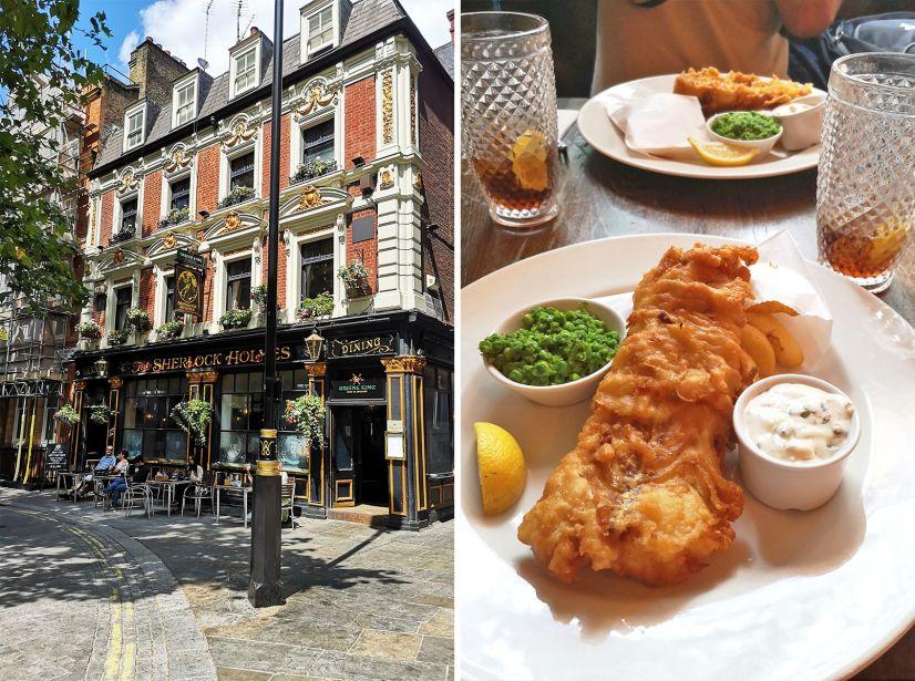 London pubi in hrana