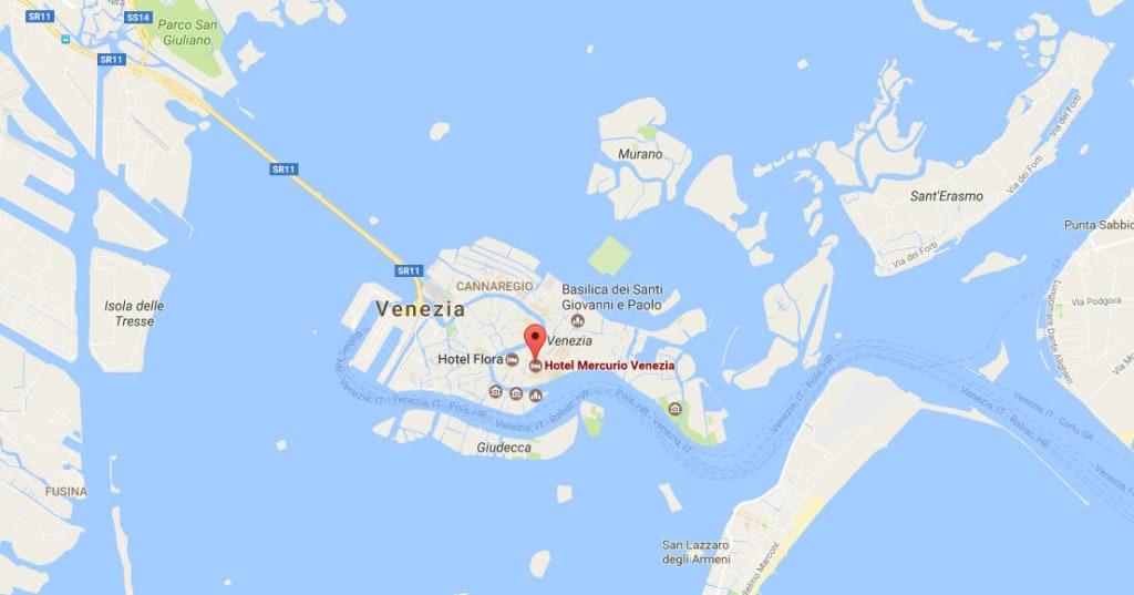 Benetke Zemljevid - 2 dni izlet v Benetke | www.gremonekam.si