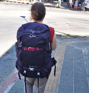 popotniški nahrbtnik za ženske