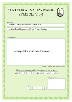 Certyfikat Viva!