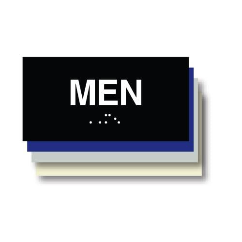 Men ADA Restroom Plaque