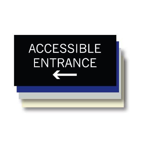 Accessible Entrance ADA Plaque, Left
