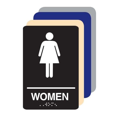Women ADA Restroom Sign