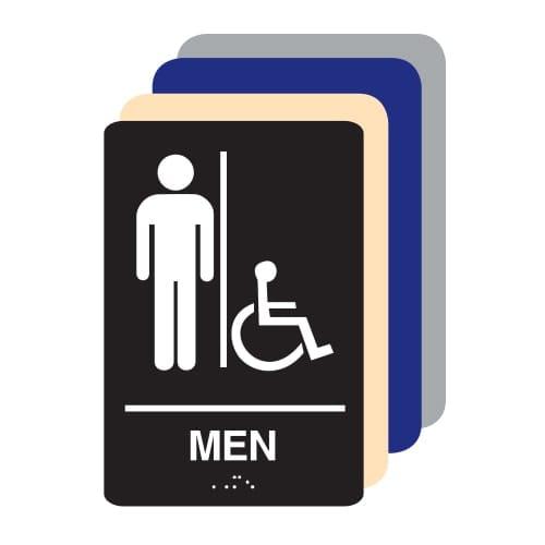 Men Accessible ADA Restroom Sign