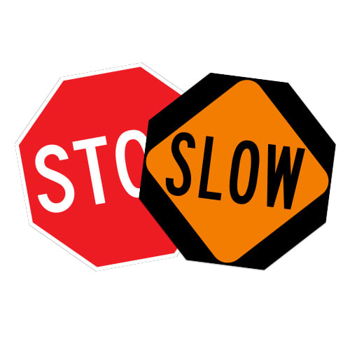 Stop/Slow Signs for Paddles