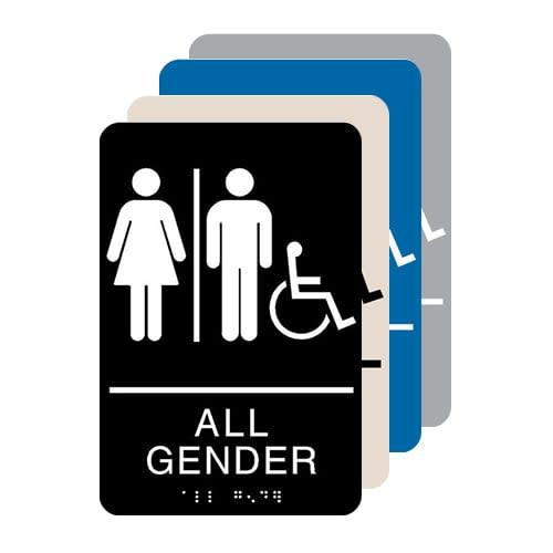 All Gender Accessible ADA Restroom Sign