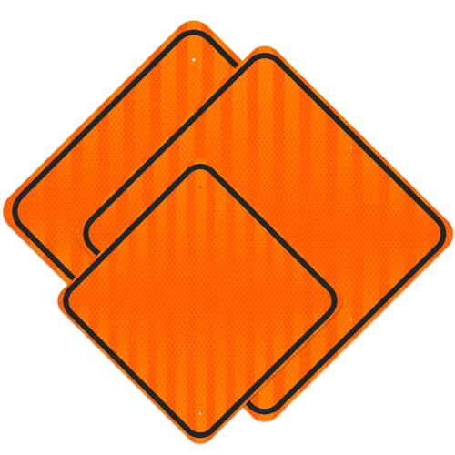 .080 Reflective Blanks DG3 – Fluorescent Orange