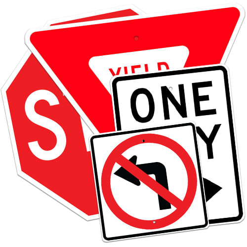 Regulatory, Parking, Construction, Warning Signs and More