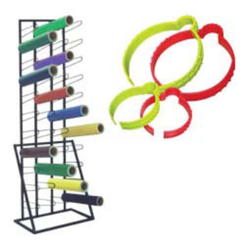Vinyl roll storage racks and holders