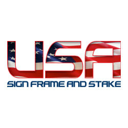 USA Sign Frame and Stake