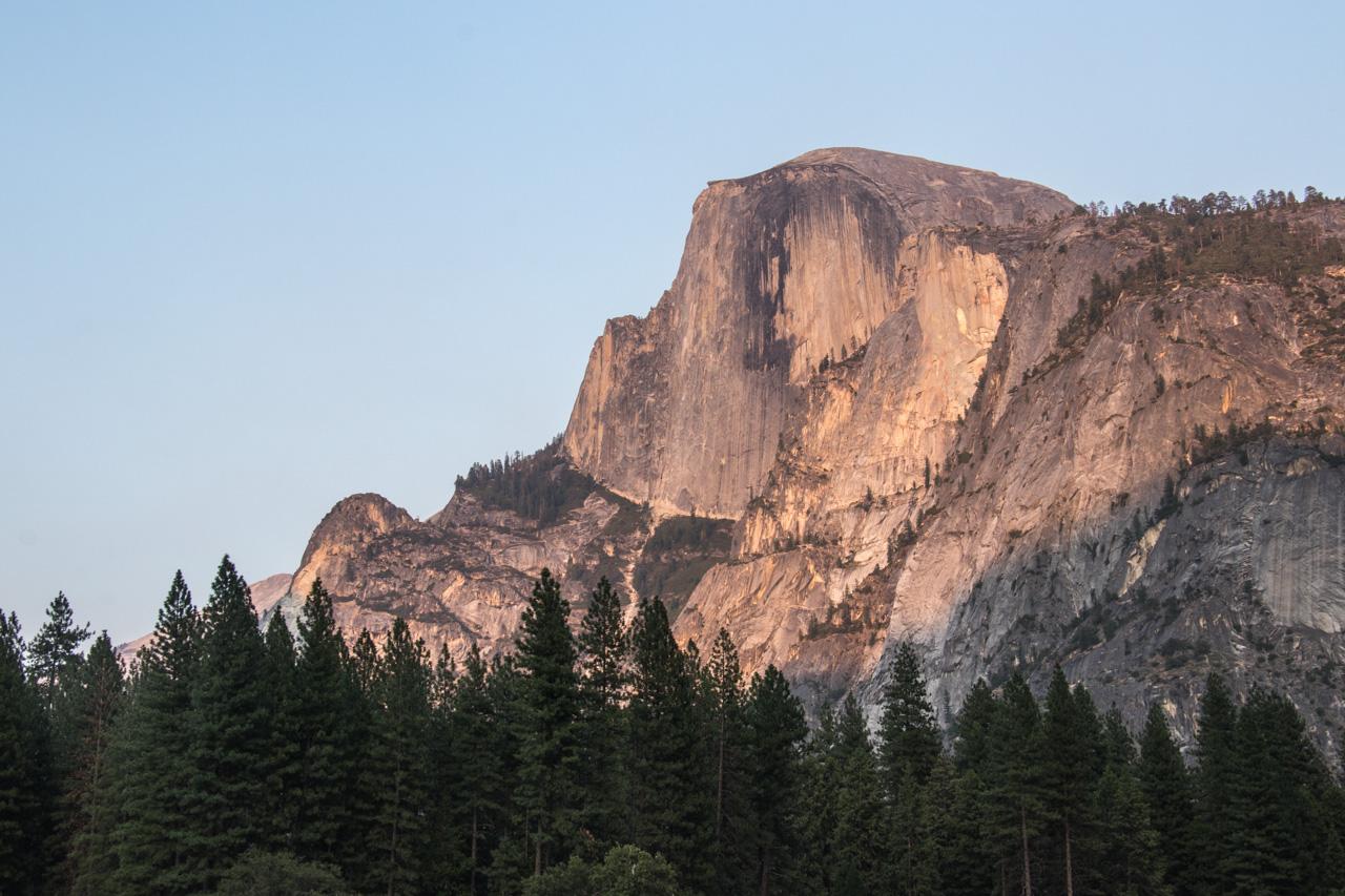 Half Dome visto do Yosemite Valley