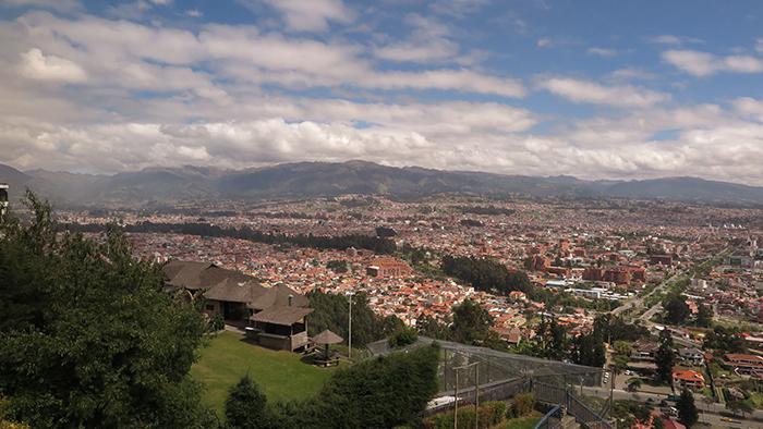 Vista da cidade de Cuencar, desde o Mirante Turi