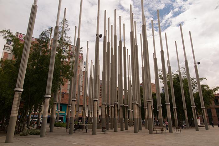 Plaza Cisneros, em Medellin